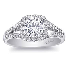 Coast 14k White Gold Engagement Ring