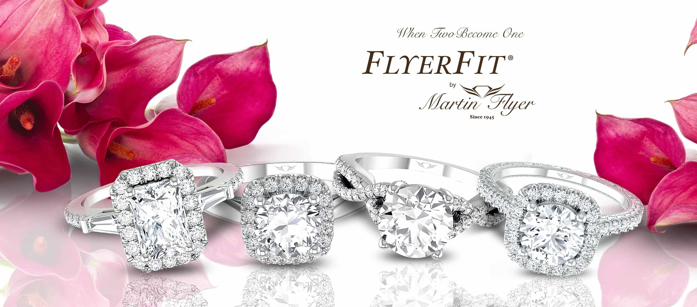 Martin Flyer Bridal Rings