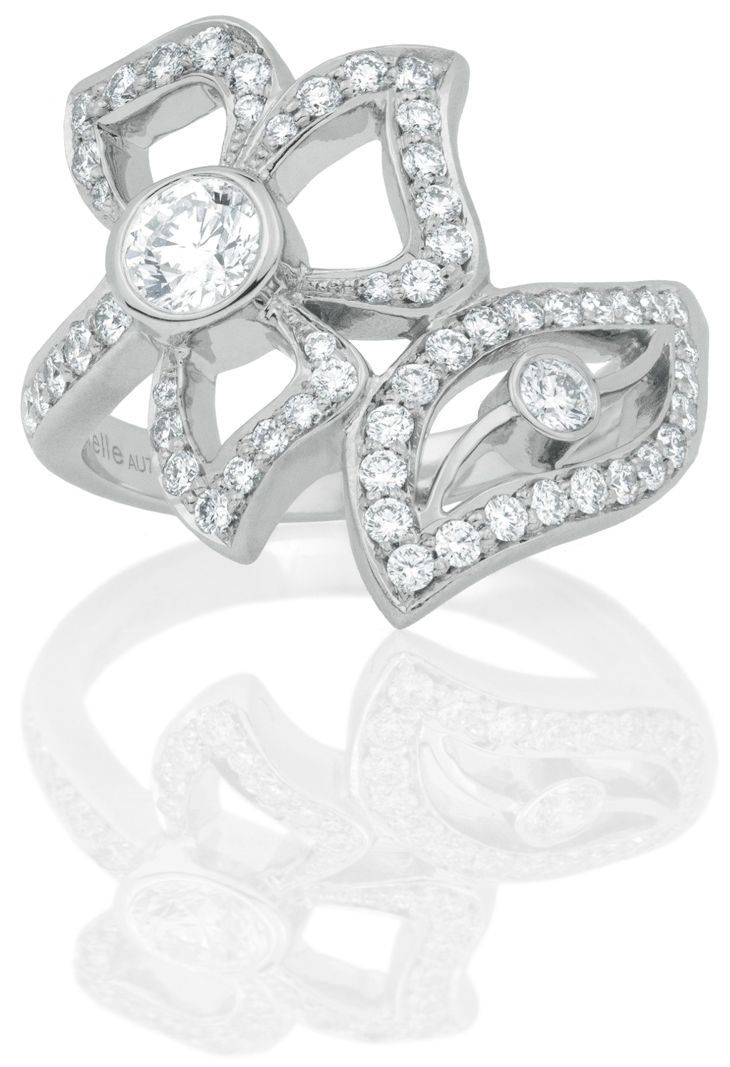 Diamond Pave Wrap-Around Florette Ring