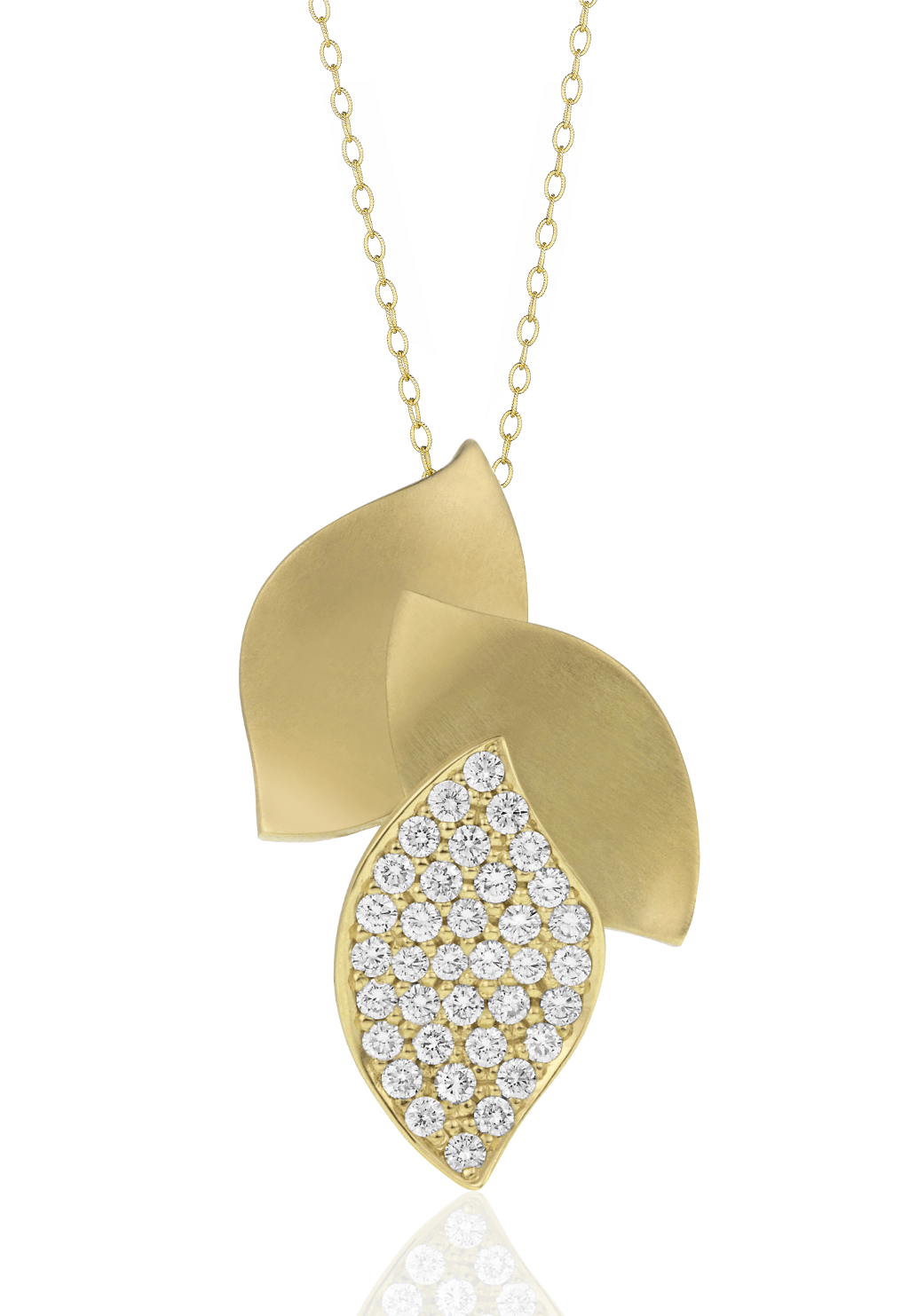 Diamond Pave Lotus Pendant