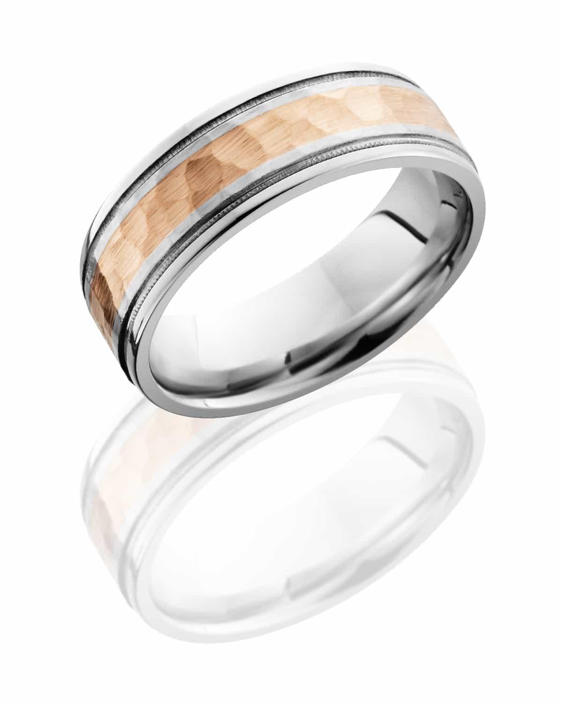 Gents Ring CC7.5FGEW13-14KR2MIL  Hammered-Polish