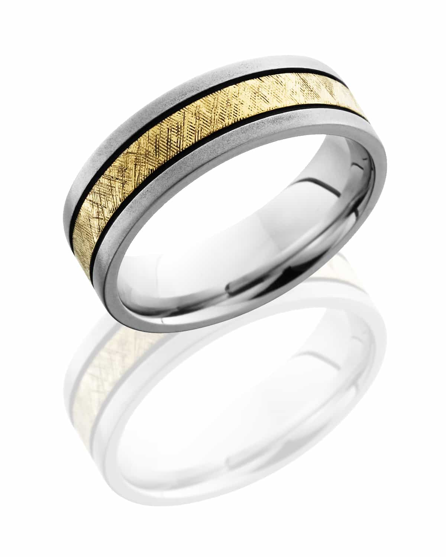 Gents Ring CC7F12_14KYMGA Florentine-Bead