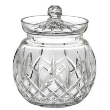 Waterford Crystal Lismore Tableware Round Biscuit Barrel Cookie Jar 129582