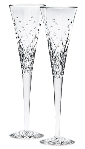 Waterford Happy Celebrations Crystal Flute Glasses, Set of 2 139904w