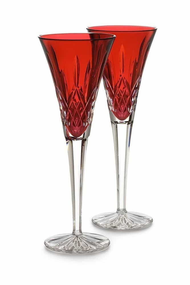 Waterford Crystal Lismore Crimson Flute Pair 143815