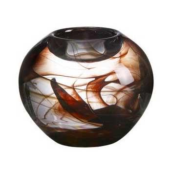 Kosta Boda Cool Moon small brown tea light holder 7060621