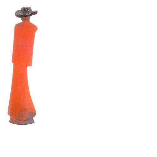Kosta Boda Catwalk Man in Red Trenchcoat Sculpture 7090556