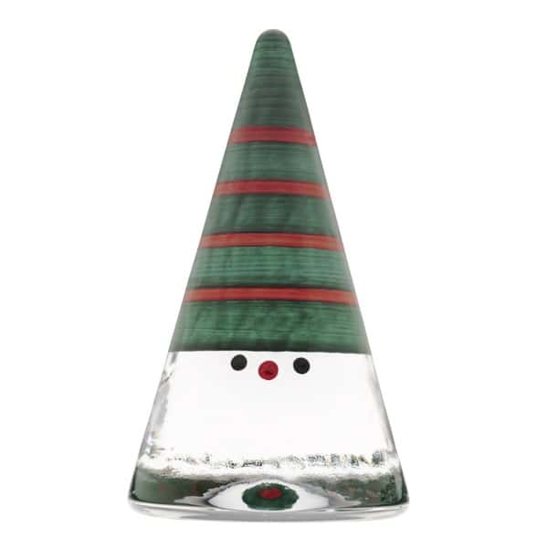 Kosta Boda Small Red and Green Striped Christmas Noel