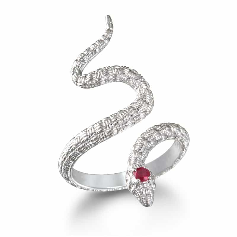 Gemstone Snake Ring